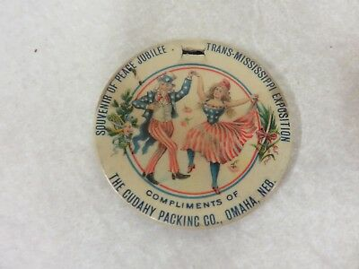 1898 TRANS-MISSISSIPPI EXPOSITION WILLIAM McKINLEY CAMPAIGN BUTTON
