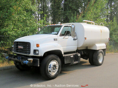 GMC C7500 S/A 2,000 Gallon Water Tanker Truck CAT Diesel 4-Speed Automatic PTO