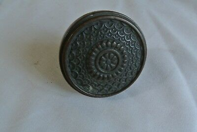 Antique Ornate Eastlake Victorian Single Door Knob Brass Bronze   speck of wax
