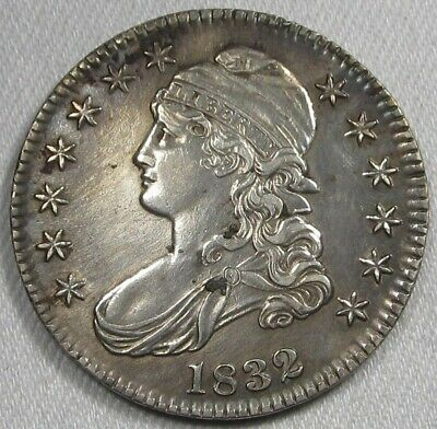 1832 Capped Bust Silver Half Dollar AU Details Coin AG43
