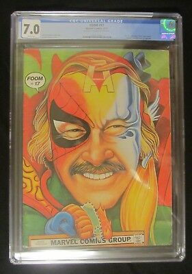 """FOOM #17 (1977) CGC 7.0...""""Cool"""" Stan Lee painted cover...""""Kiss"""" back cover"""
