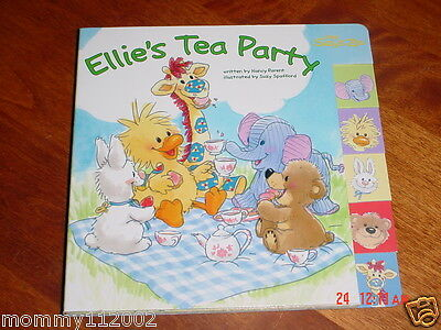 Little Suzy's Zoo Ellie's Tea Party BOARD TAB BOOK Witzy Suzy Ellie elephant NEW