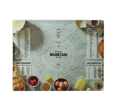 NEW Mason Cash Baker Lane Glass Pastry Board 46cm x 36cm