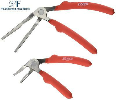 """E-Z Red KWP2 Kiwi Plier Two Piece Set- Includes 6"""" Short Nose and 8"""" Long Nose K"""