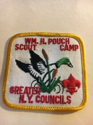 """Greater New York Councils   WM. H.  Pouch Scout Camp   3"""" x 3""""  Square  Patch"""