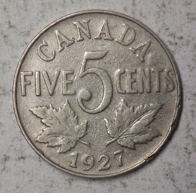 Canada 1927 5 Cents Coin