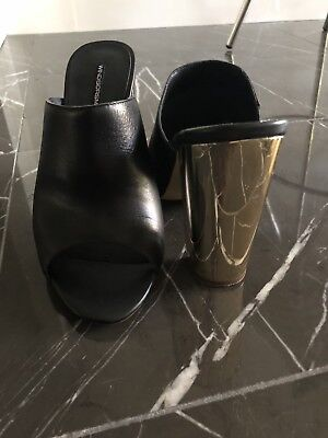 Windsor Smith Ladies US Size 7 Black & Gold Shoes