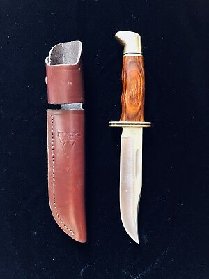 Buck Knife 119C 119 C Side Snap Leather Sheath 1995 Cocobolo Wood ?