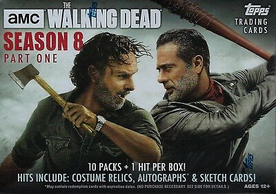 2018 Topps The Walking Dead Season 8 Part 1 Cards 61ct. Blaster Box=1 Hit/box