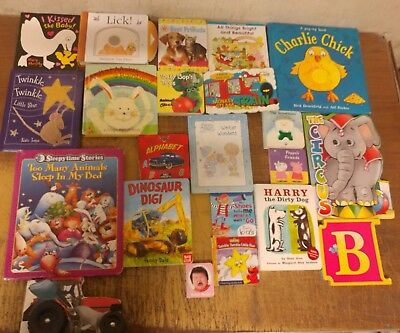 Lot of 22 Board Toddler Hardcover Picture DayCare Kid Child Books - UNSORTED a54
