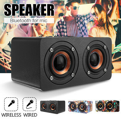 Wooden Big Bass Loud Portable Outdoor Mini Bluetooth Speaker With FM radio