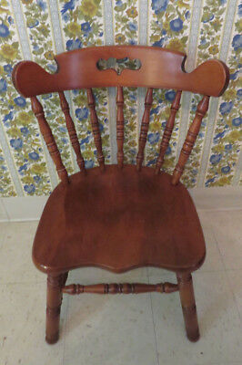 Tell City Hard Rock Andover Maple Thick Seat Mate Dining Room Chair 8046 AS  IS