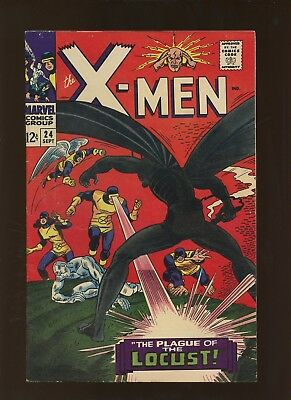 X-Men 24 FN 5.5 * 1 Book Lot * Origin & 1st Locust! Roy Thomas & Werner Roth!