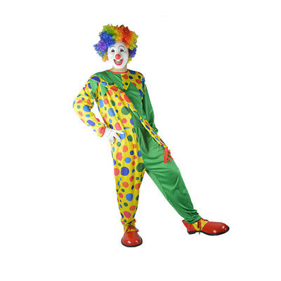 Adult Men Colorful Clown Costume Halloween Cosplay Fancy Dress Outfits