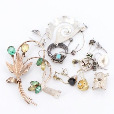 VTG Sterling Silver - Lot of Assorted Mixed Jewelry WEAR/SCRAP/REPAIR - 51.7g