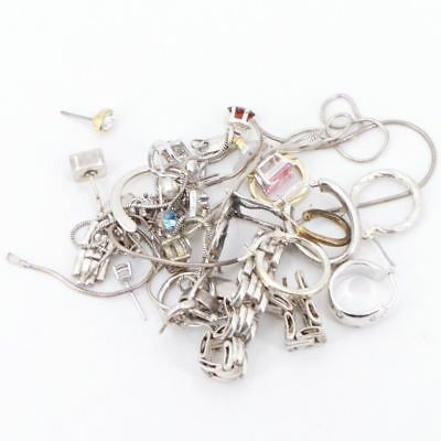VTG Sterling Silver - Lot of Assorted Mixed Jewelry WEAR/SCRAP/REPAIR - 50.1g