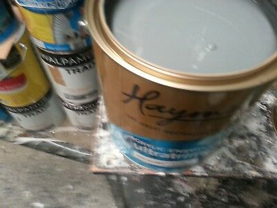 Haymes 4 Litre Ultratrim Water-Base-Enamel Int/ext Gloss Grey Color Paint