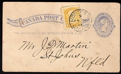 (J-138) Canada postcard 1882 #UX5 with #35