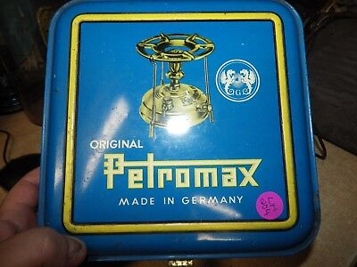 Vintage Made In Germany Petromax #410 Brass Oil Lantern W/ Original Case Manual