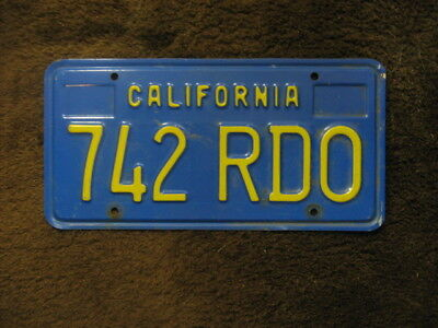 1970 Style California License Plate