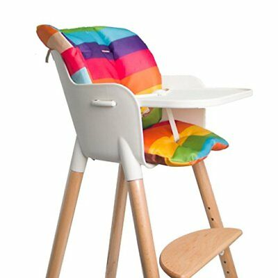 Baby High Chair Seat Cushion Waterproof Oxford Baby Stroller Covers, Rainbow Pad