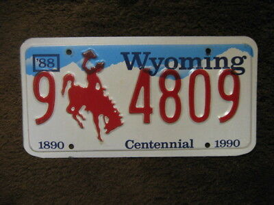 1988 Wyoming License Plate - Big Horn County
