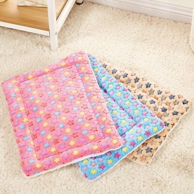 US Pets Soft Warm Fleece Blanket Bed Mat Pad Cover Cushion S M L For Pet Dog Cat