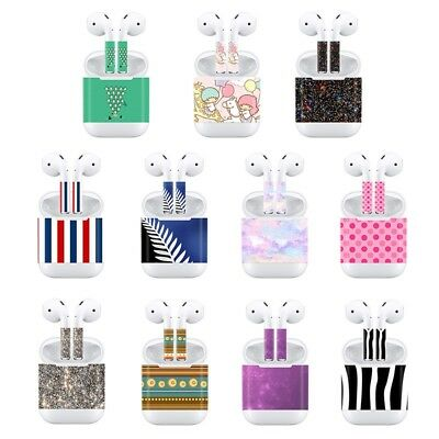 Floral PVC Skin Decal Protective Cover Wraps for Apple AirPods AirPod Sticker