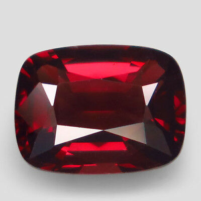 1.53ct.Dazzling Gem! 100%Natural Hot Orange Red Spinel Unheated 8x6mm.AAA Nr!