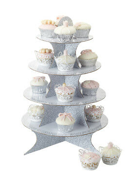 NEW KitchenCraft Sweetly Does it Fold Up Cupcake Stand 49 x 42cm