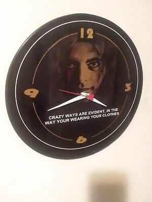 Led Zeppelin - Robert Plant - Crazy Ways Are Evident - 12 Inch Wall Clock