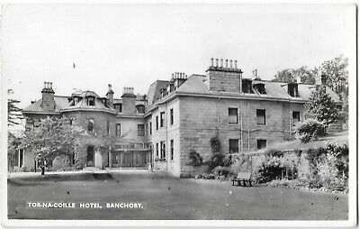 Scotland Banchory Tor-Na-Coille Hotel Real Photo Vintage Postcard 13.5