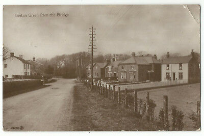Scotland Gretna Green from the Bridge 1927 Real Photo Vintage PC 15.3