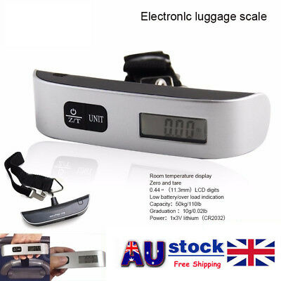 50Kg Travel Portable Handheld Luggage Weighing Digital Scales Suitcase Bag New