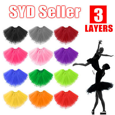 Women Adults Girls Tutu Skirt Princess Dressup Party Costume Ballet Dancewear SH
