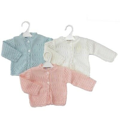 Premature Baby Boys Girls Early Tiny Clothes Knitted Acrylic Soft Cardigan Cardi