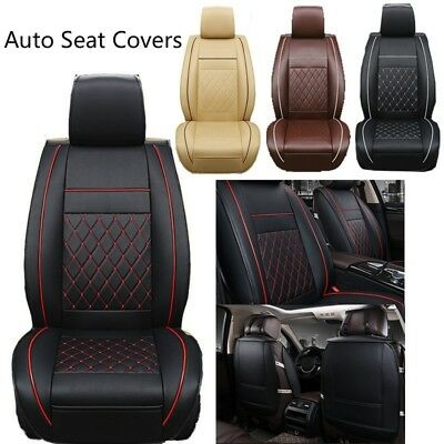 Auto-Seat Covers Breathable PU Leather Car Seat Pad Mat Cushion Cover Protector