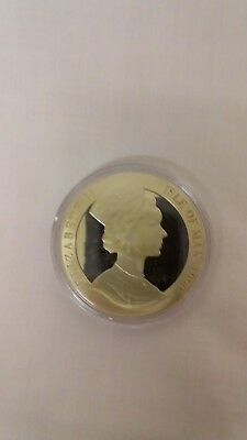 PENNY BLACK 150th anniversary Crown LARGE COIN - ISLE OF MAN 1990