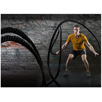 15M 38MM Corde Ondulatoire Battle Rope Sport Exercice Fitness maison / gymnase