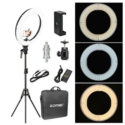"Zomei 18"" SMD LED Ring Light With Stand Dimmable 5500K For Camera Makeup Phone"
