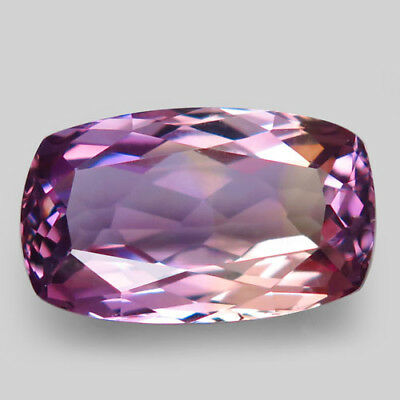 10.21ct.Beautiful! 100%Natural Bi Color Ametrine Unheated Bolivia 18x11mm.AAA N