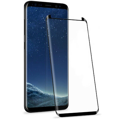 For Samsung Galaxy S8 6D Full Glue &Curved Tempered Glass Screen Protector Black