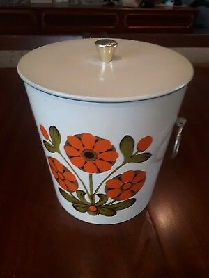 Fabulous Retro Vintage Ice Bucket Canister Original 1960s - 70s