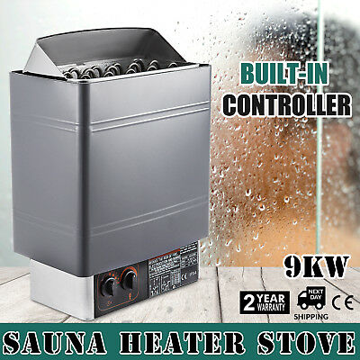 9KW Wet&Dry Sauna Heater Stove Internal Control Spa Single Phase Power-saving
