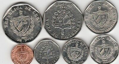7 different world coins from A CENTRAL AMERICAN COUNTRY