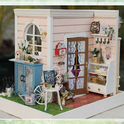 DIY Handcraft Miniature Project Kit Two-Sided Dolls House Bedroom & Balcony