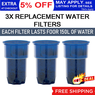 3 x Water Filter Replacement 5L Heller WFC Lenoxx WC100 Filtration Cartridge NEW
