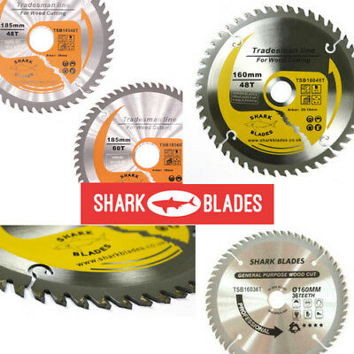 Shark Blades TCT Circular Wood Saw Blades 160mm to 210mm Bosch Makita Dewalt