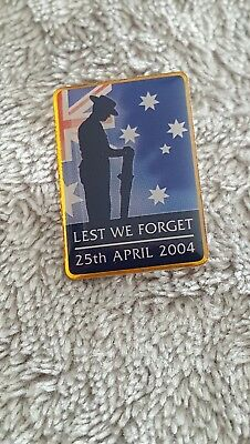 Anzac Day Australian And New Zealand Military Commemoration Tie Badge 25/04/2004