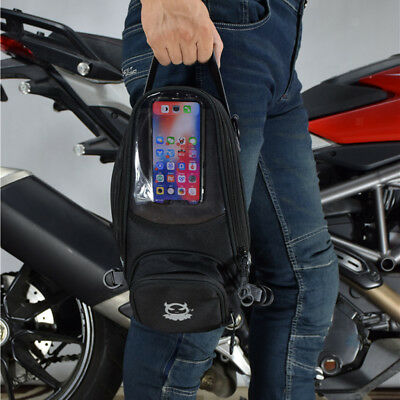 Universal Magnetic Motorcycle Motorbike Oil Fuel Gas Tank Bag Black